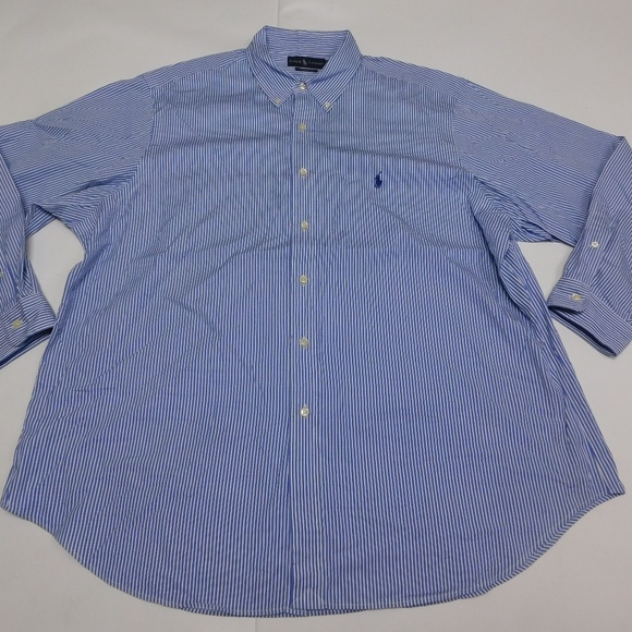 28a28ba6864 Polo by Ralph Lauren Shirts   Ralph Lauren 18 3435 Blue Button Down ...